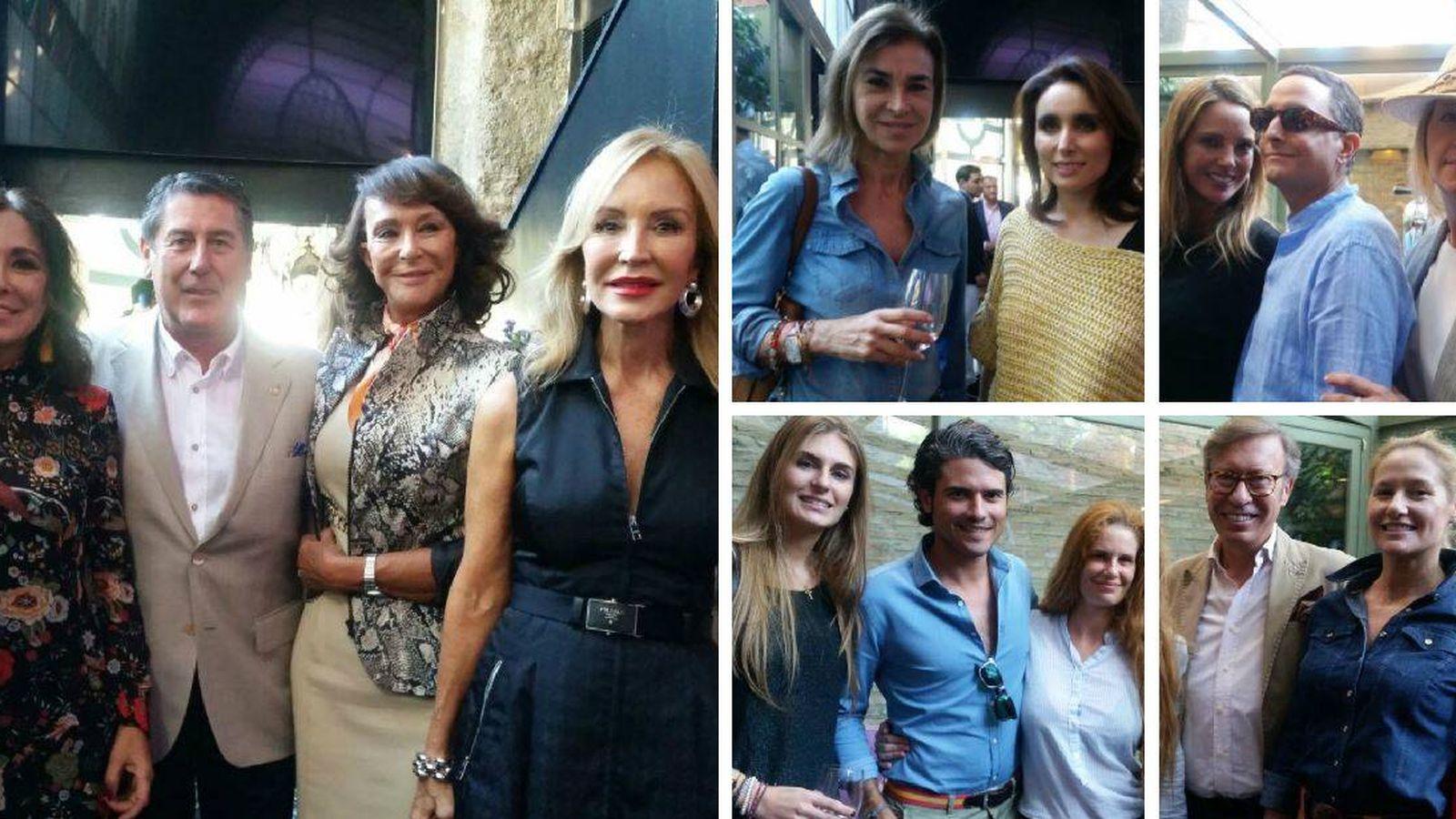 Foto: Famosos en el previo a los Premios Escaparate.