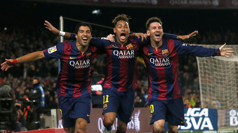 El tridente del Barça que todavía añoran los aficionados blaugranas. (Reuters)