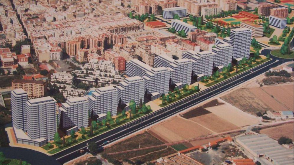 Foto: La propuesta original del PAI de Benimaclet, que Metrovacesa va a modificar para reactivar el proyecto.