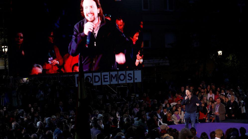 Foto: Pablo Iglesias en su mitin de Madrid al regresar a la política después de su baja de paternidad. (EFE