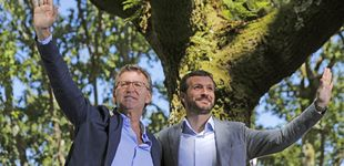 Post de Feijóo invita a Casado a forjar la unión de la derecha en torno al PP