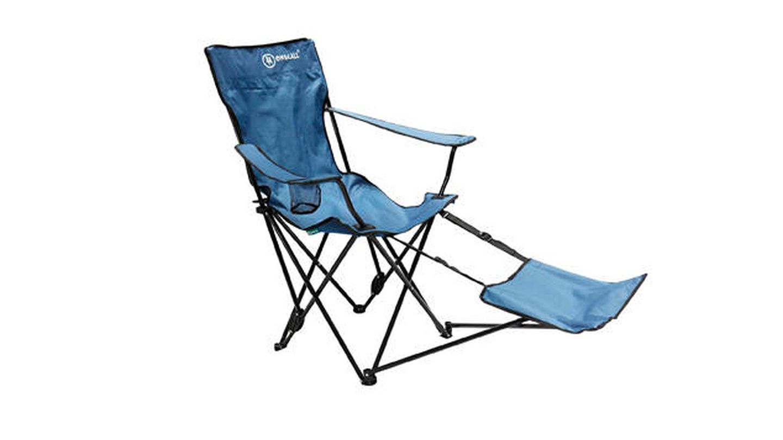 Silla de camping plegable con reposapiés Homecall