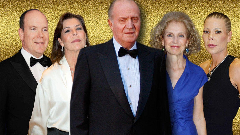 Foto: El rey y algunos invitados a la fiesta en un montaje de Vanitatis