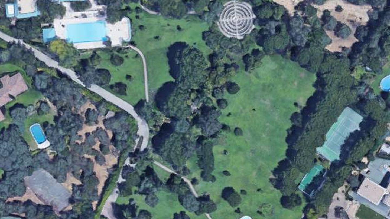 Vista aérea de la propiedad de Tita Thyssen en La Moraleja, Alcobendas (Madrid).