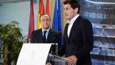 Gritos de ¡Florentino dimisión! en la despedida de Iker Casillas
