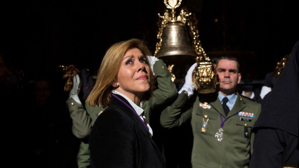Foto: María Dolores de Cospedal en la Semana Santa de Málaga. (EFE)