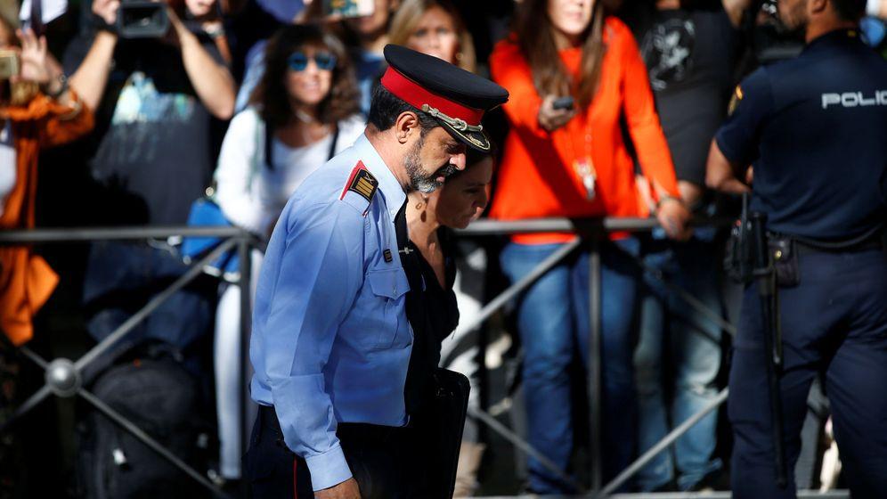 Foto: Josep Lluis Trapero, a su entrada a la Audiencia. (Reuters)