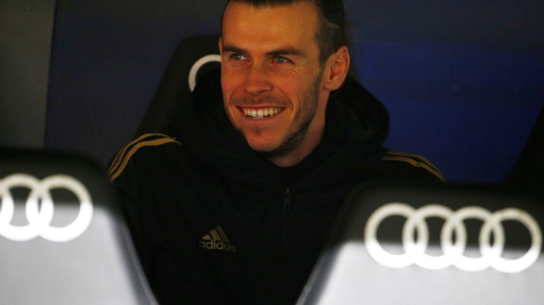 Gareth Bale en el banquillo durante el Real Madrid-Real Sociedad. (Reuters)