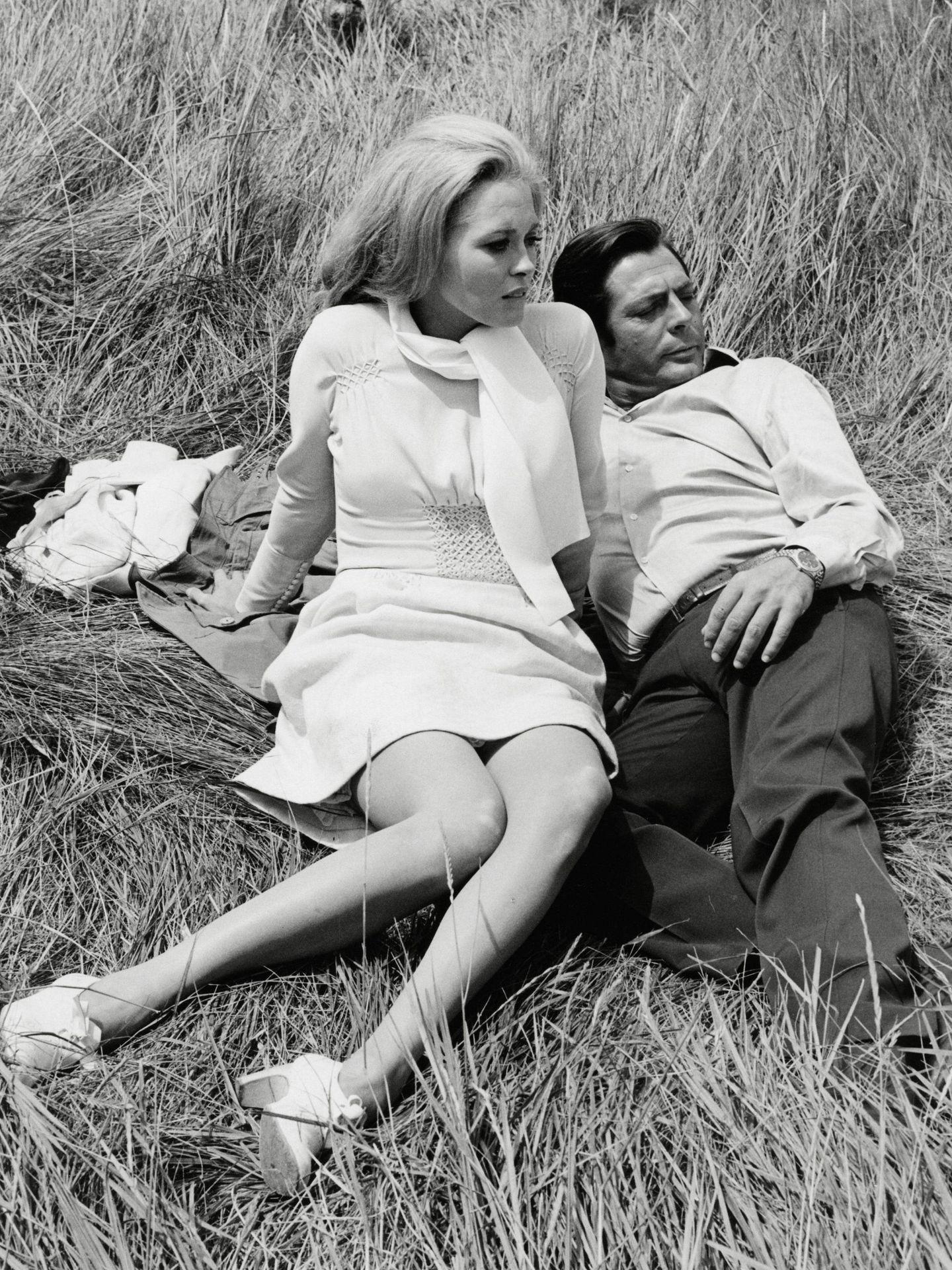 Faye Dunaway y Marcello Mastroianni, en 1968. (CP)