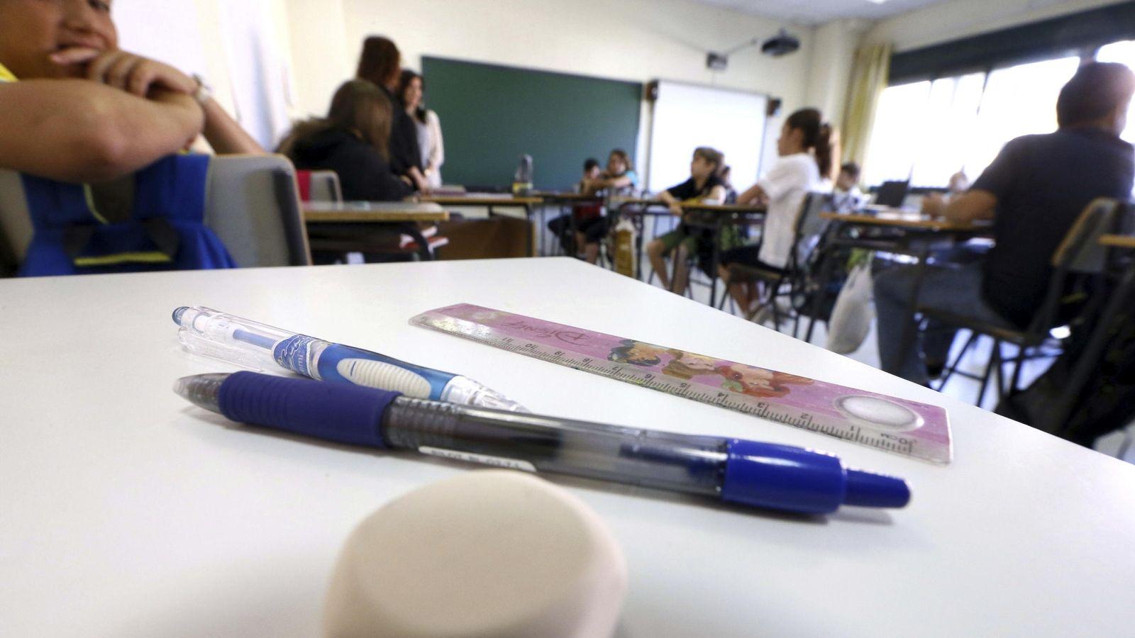Foto: Alumnos del colegio Adolfo Suárez de Madrid. (Efe/Fernando Alvarado)