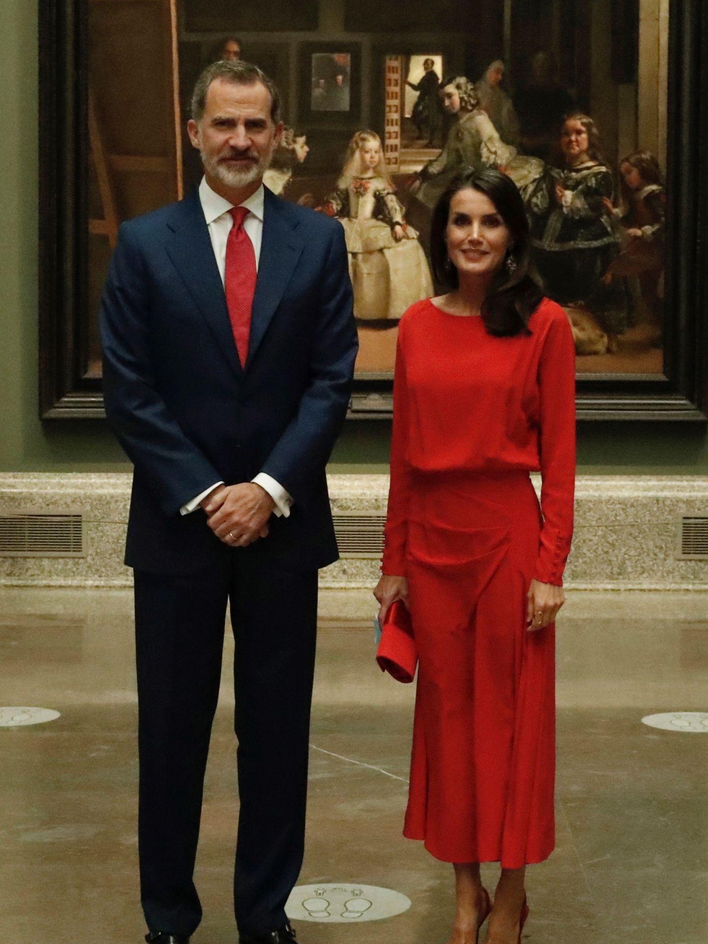 Los Reyes, en el Museo del Prado. (EFE)