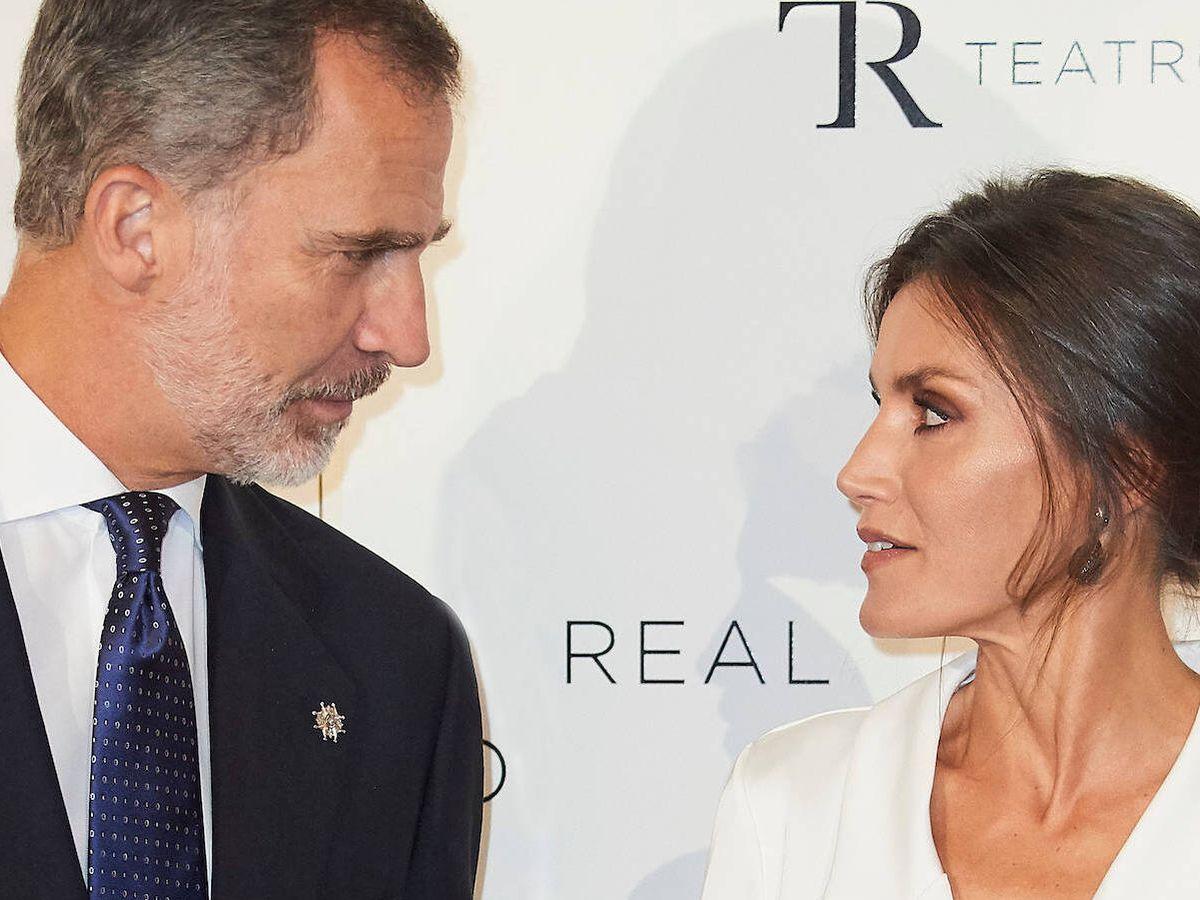 Foto: Los reyes Felipe y Letizia, en el Teatro Real. (LP)