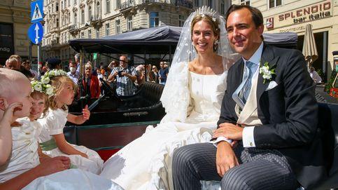 La boda de Anunciata de Liechtenstein: de Valentino y con la tiara de los Habsburgo