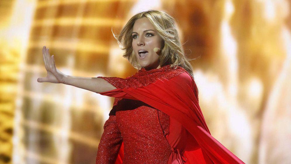 Foto: La cantante Edurne en una imagen de archivo durante el Festival de Eurovisión 2015.