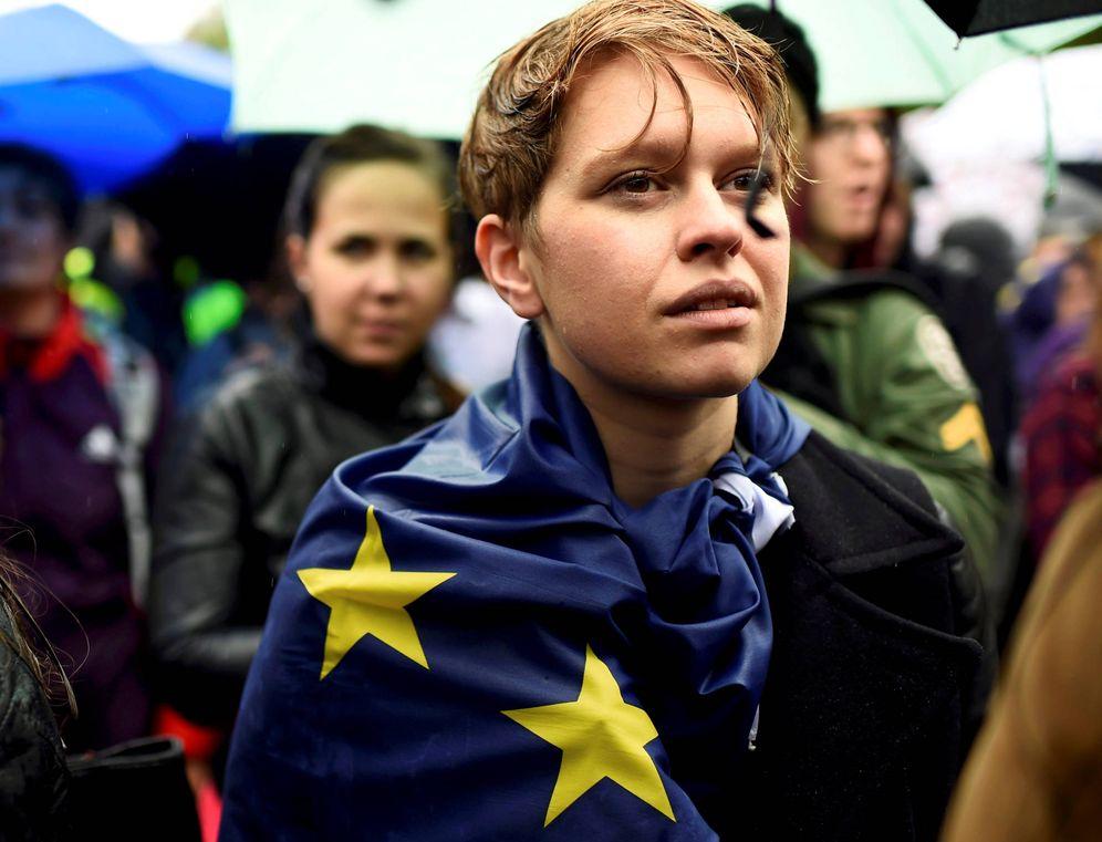 Foto: Manifestantes a favor de la Unión Europea protestan contra el Brexit en Londres, el 28 de junio de 2016 (Reuters)