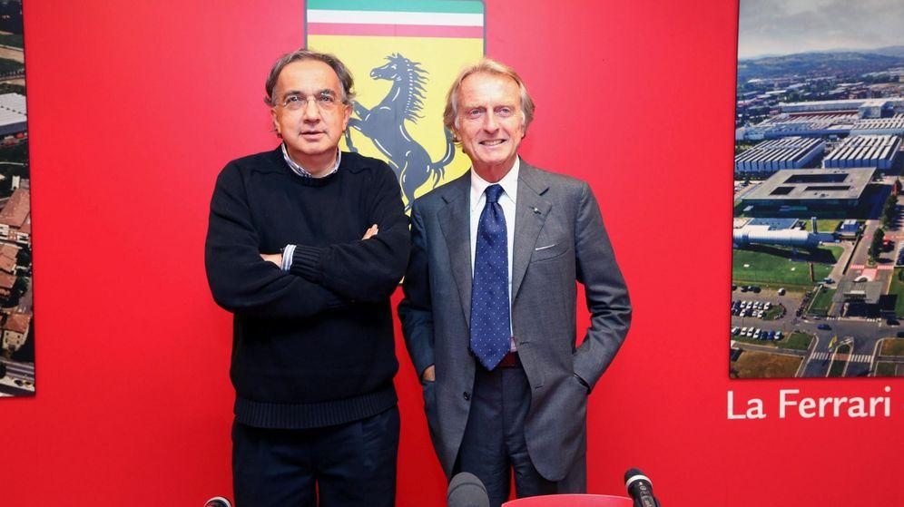 Foto: Cordero di Montezemolo y Sergio Marchionne en la sucesión del trono.