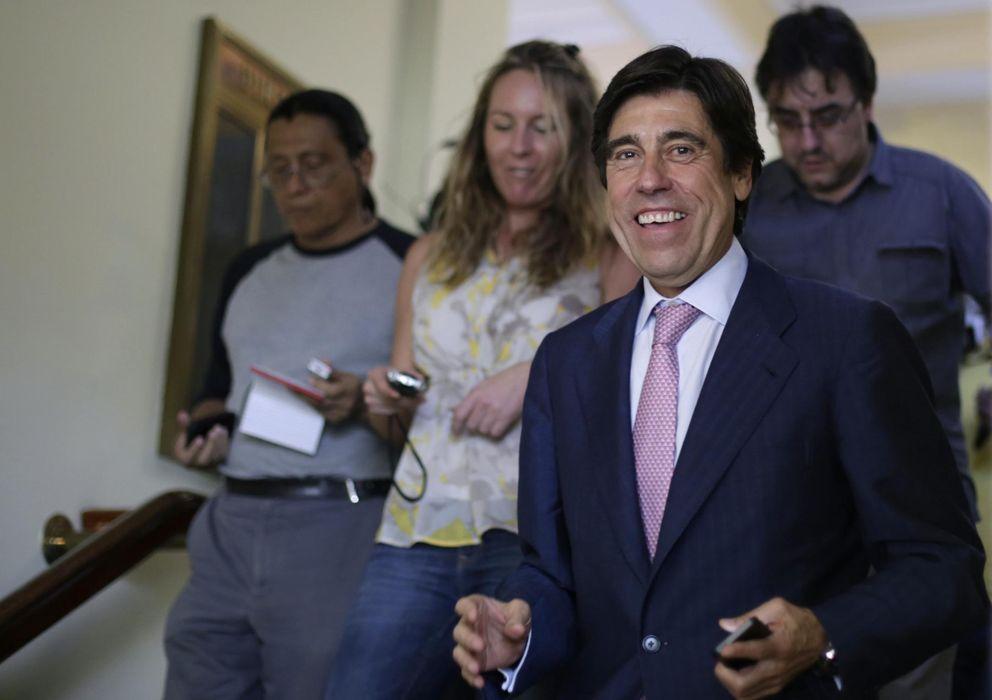 Foto: El presidente de Sacyr, Manuel Manrique, durante su visita a Panamá a medidos de enero. (EFE)