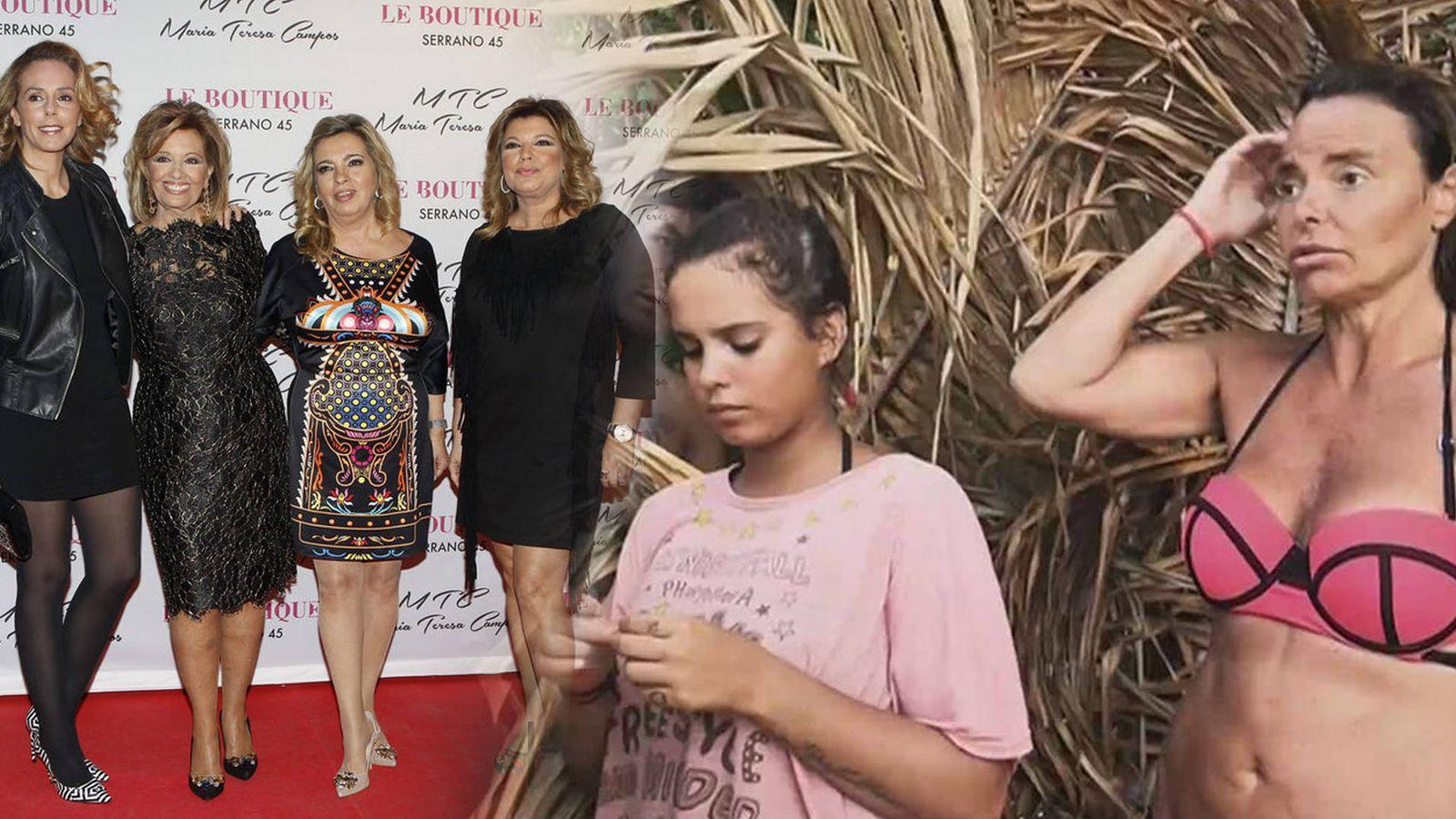 Foto: Rocío Carrasco, las Campos, Gloria Camila y Leticia Sabater, enemigas íntimas. (Getty Images/Mediaset España)
