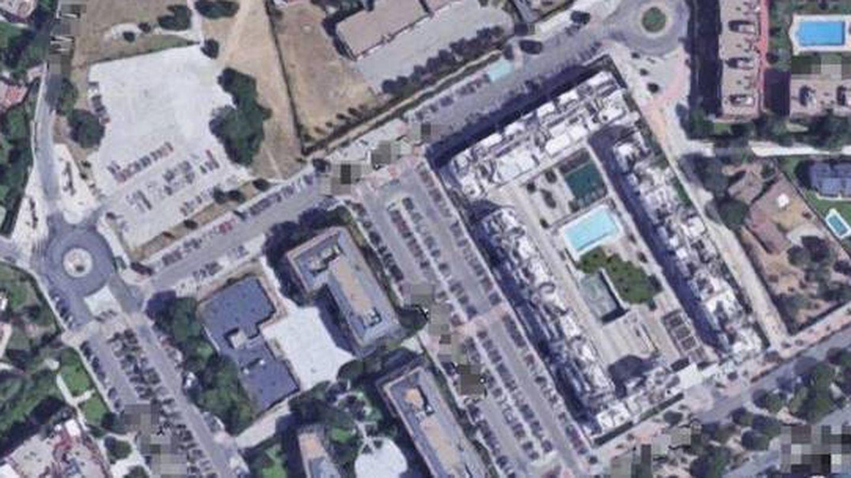 Vista aérea de la urbanización.