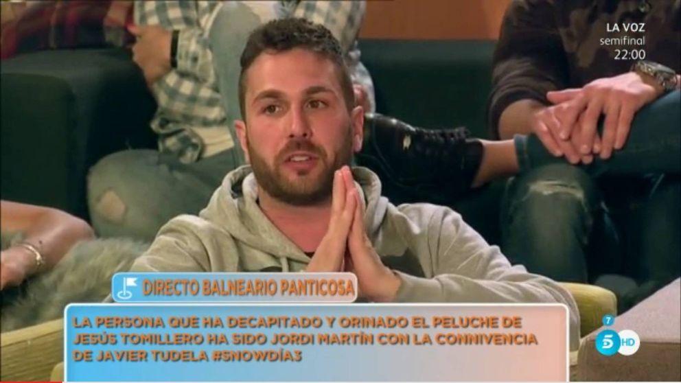 David Valdeperas expulsa al paparazzi Jordi Martín de 'Sálvame Snow Week'