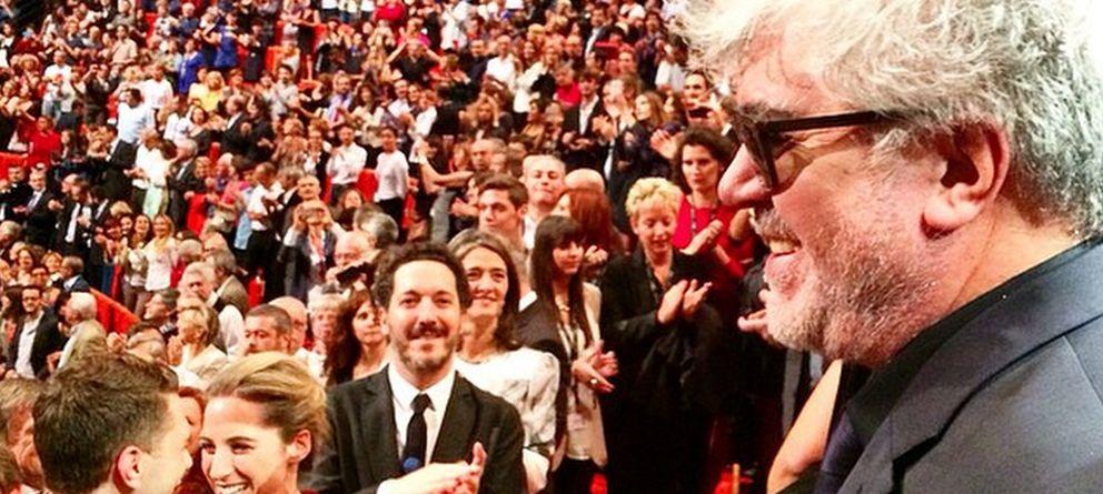 Foto: Pedro Almodóvar este viernes en Lyon (Instagram)