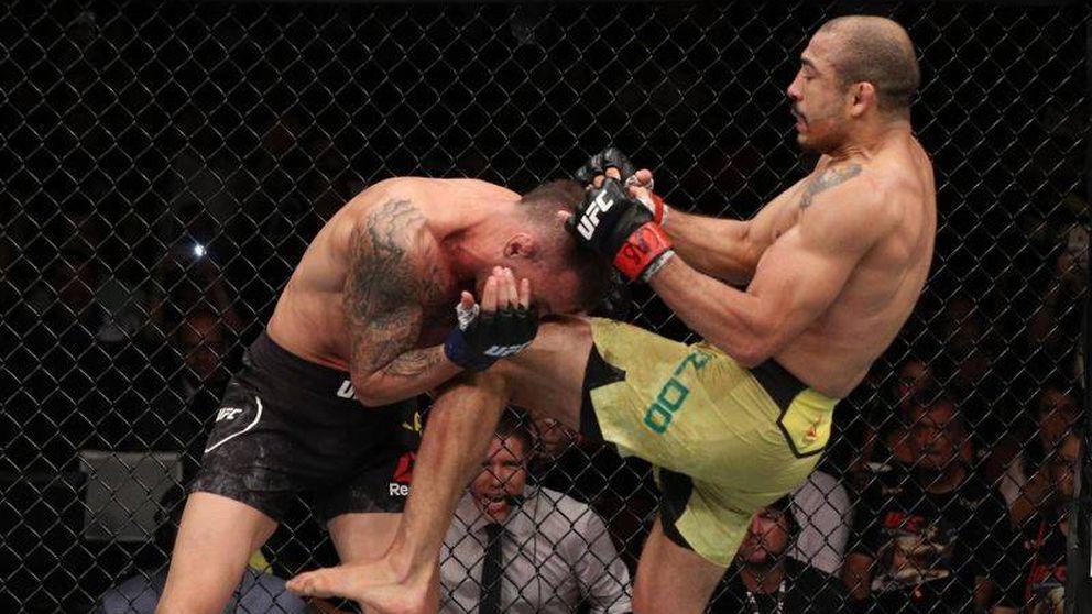 UFC: lluvia de golpes del 'viejo' Jose Aldo para aplastar a Moicano