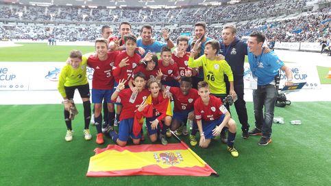 España gana a Brasil y queda tercera de la Danone Nations Cup
