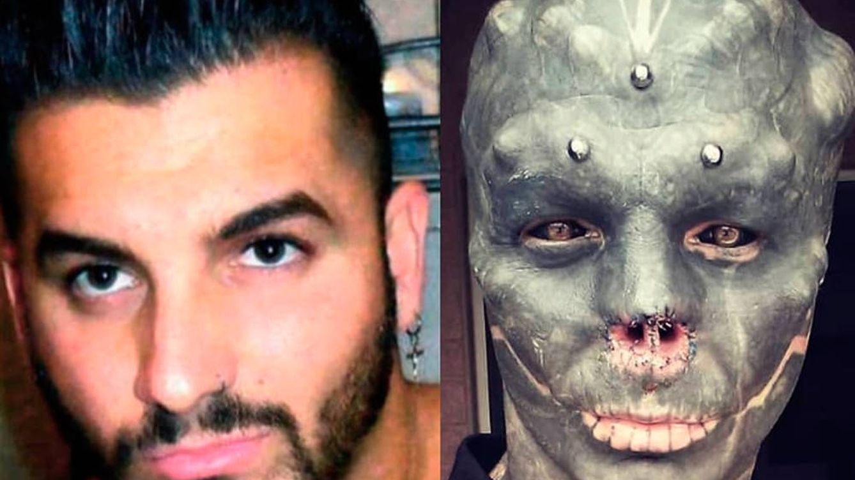 El hombre que quiere ser un alien: se quita la nariz y las orejas y se coloca lengua bífida