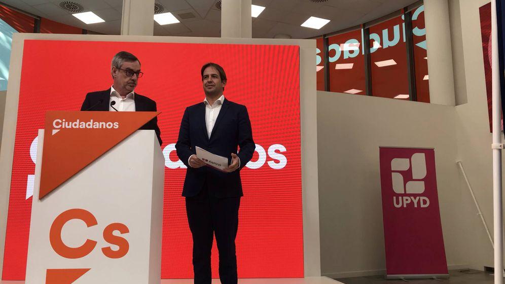 Foto: José Manuel Villegas y Cristiano Brown comparecen juntos en la sede de Ciudadanos (EC)