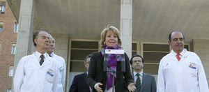 Foto: 'Código 15' en el hospital: Ingresa la presidenta