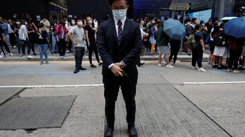 Un manifestante en Hong Kong. (Reuters)