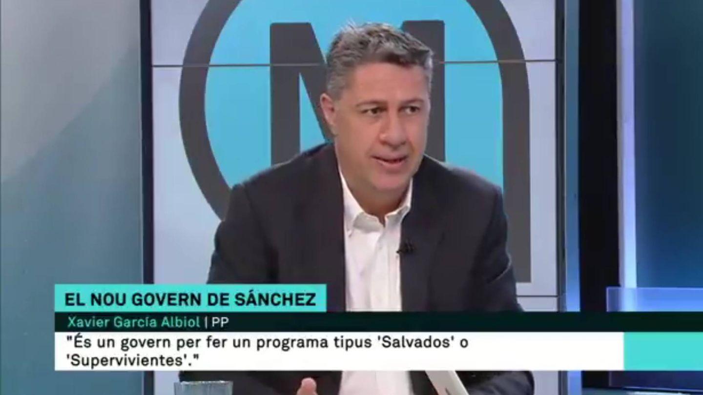 Xavier García Albiol, en TV3.