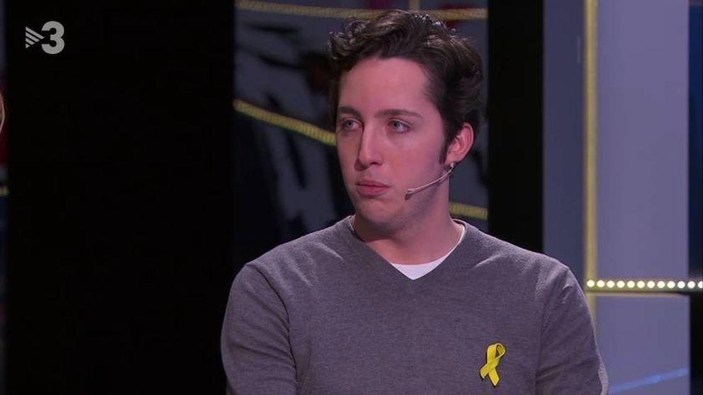 ¿Goya al mejor actor? El pequeño Nicolás se presenta en TV3 con un lazo amarillo