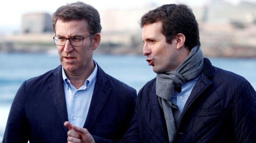 Foto: Feijóo y Casado, en La Coruña. (EFE)