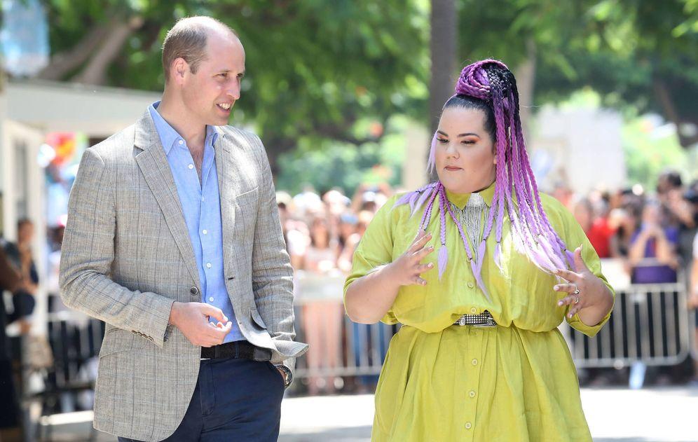 Foto: El príncipe Guillermo y la cantante Netta Barzilai. (Gtres)