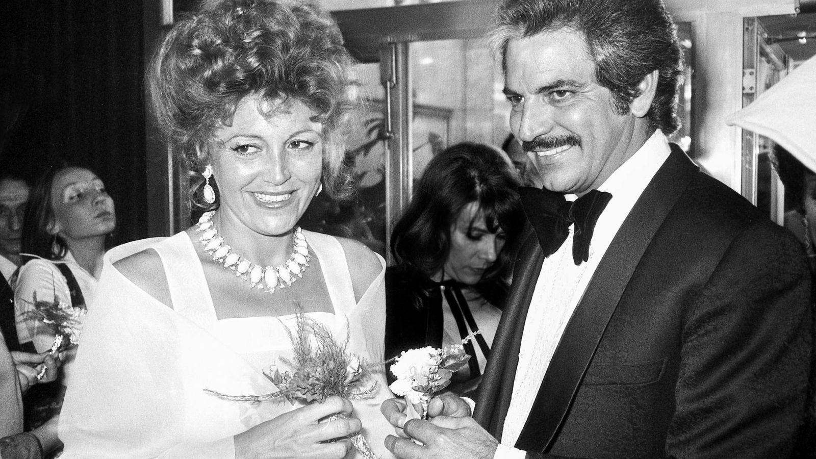Foto: Tita Cervera casándose con Espartaco Santoni. Contrajeron matrimonio en Nueva York en febrero de 1975. (Getty)