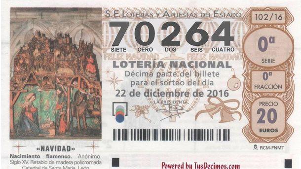 Foto: Cuarto quinto premio de la Lotería de Navidad 2016