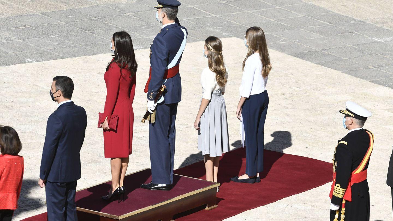 La familia real preside las celebraciones del Día Nacional. (EFE)