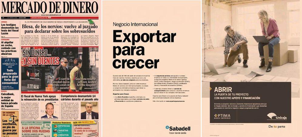 Foto: Páginas publicitarias de 'Mercado de Dinero'