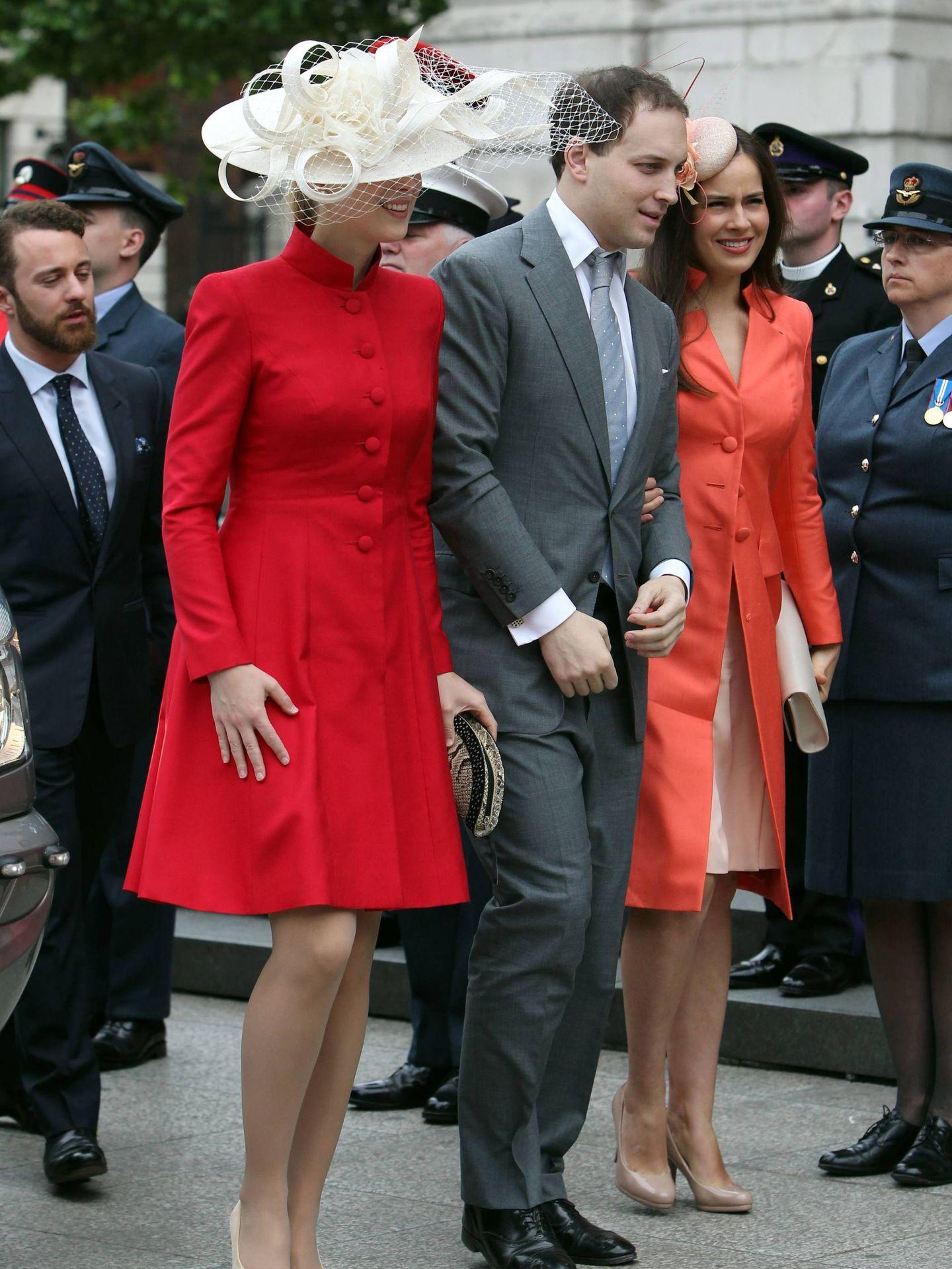 El look que llevó en la misa por el 90 cumpleaños de la reina Isabel II. (Cordon Press)