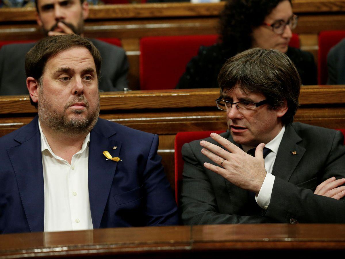 Foto: Oriol Junqueras (i) y Carles Puigdemont. (Reuters)