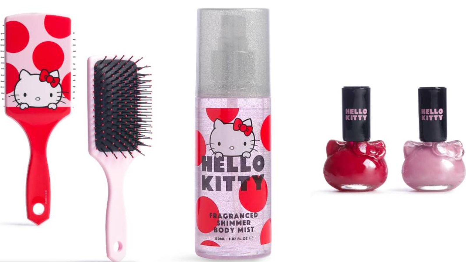 Foto: Colección beauty de Hello Kitty. (Cortesía)