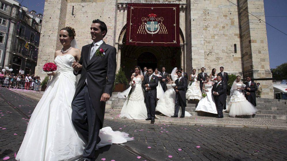 Foto: Imagen de archivo de una boda en la catedral de San Antonio, en Lisboa, Portugal. (EFE)