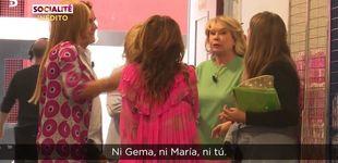 Post de Patiño y Mila, a gritos en los pasillos de 'Sálvame' por la salida de Terelu