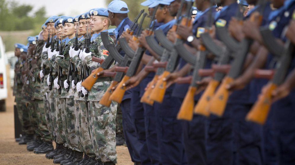 Foto: Cascos azules destacados en Gao, Mali. (EFE)