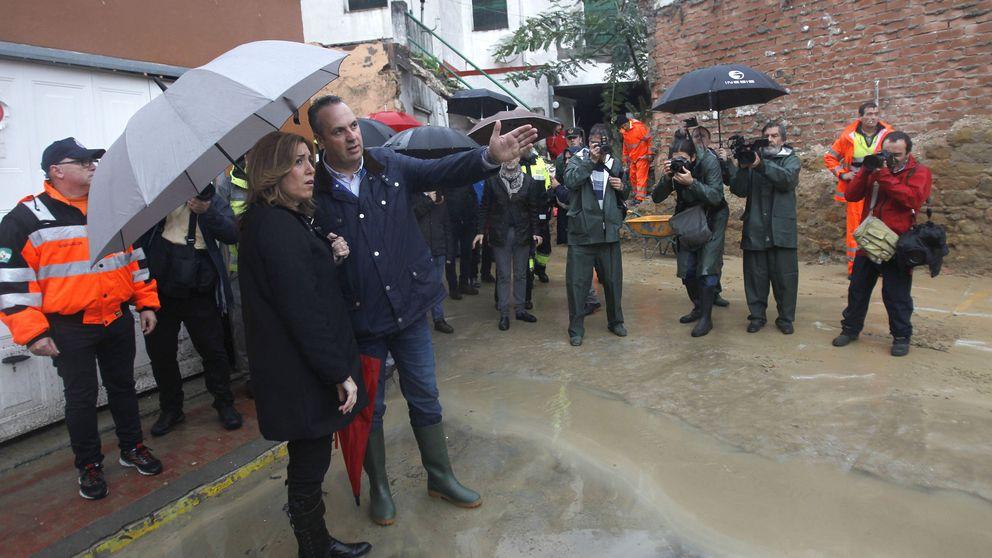 El temporal frustra el 'desembarco' de Díaz el Día de la Constitución