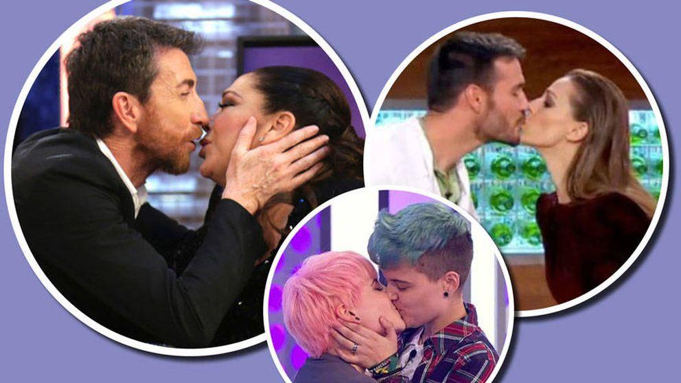 Los besos que la televisión deja para el recuerdo en 2017: de 'OT' a Isabel Pantoja