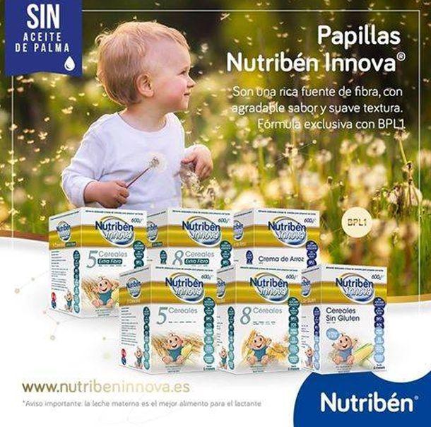 Foto: Nutriben ha sido el primero en usar sus papillas y leche en polvo sin aceite de palma como percha.