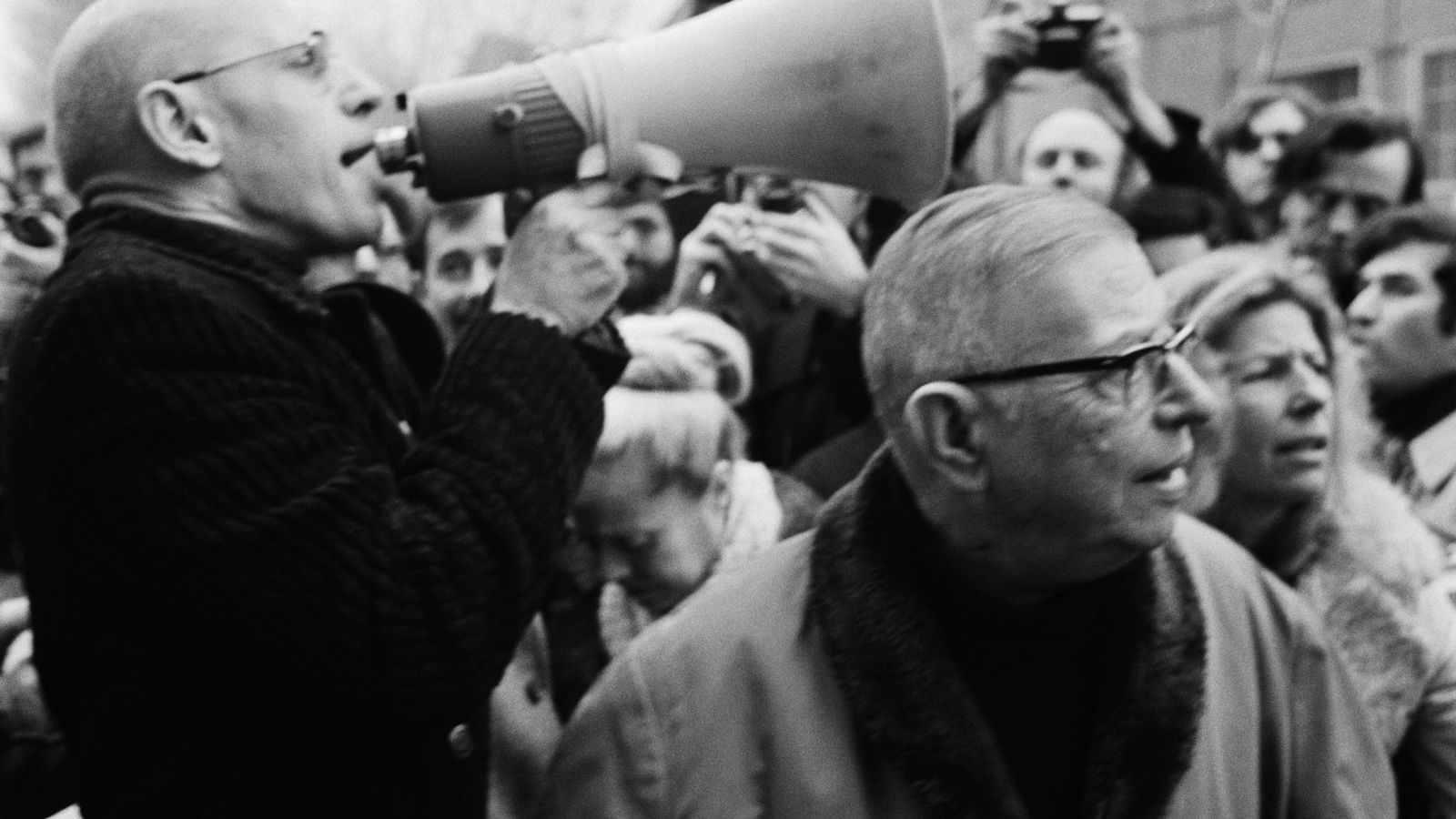 Foto: Michel Foucault con Jean-Paul Sartre