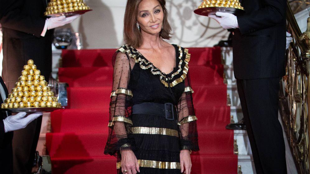 Foto: Isabel Preysler, en la fiesta de Ferrero Rocher. (Getty)